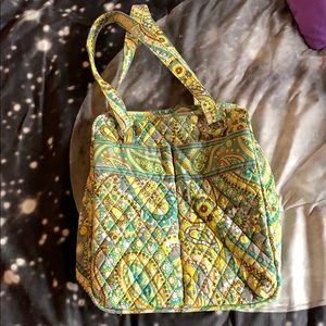 SOLD Vera Bradley Lemon Parfait Tote Bag